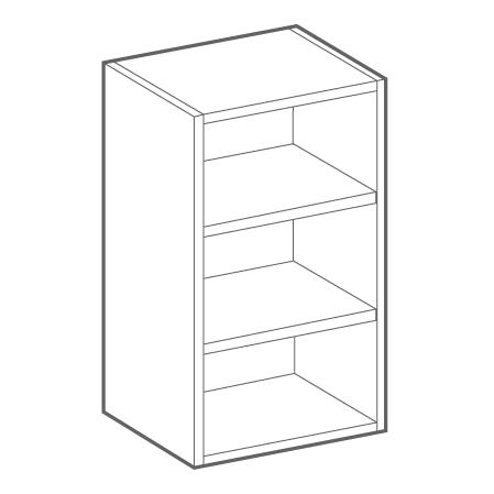 módulos de muebles de cocina abiertos