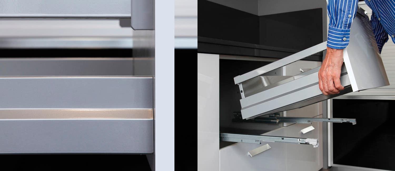 muebles bajos de cocina con cajones