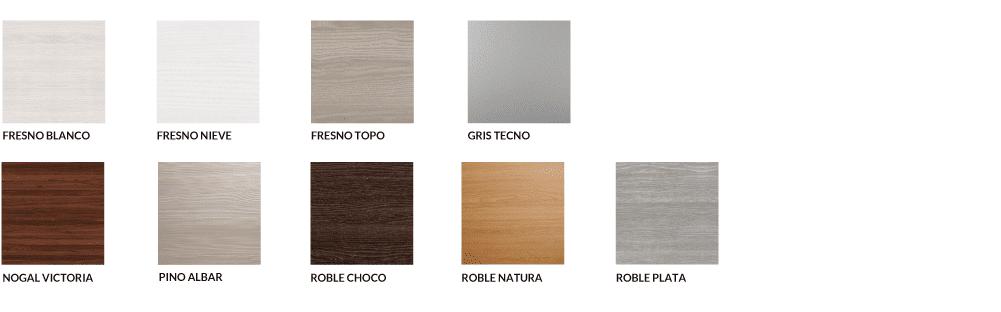 materiales y colores para muebles de cocina